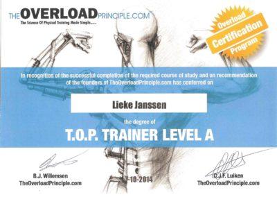 lieke janssen top trainer level a